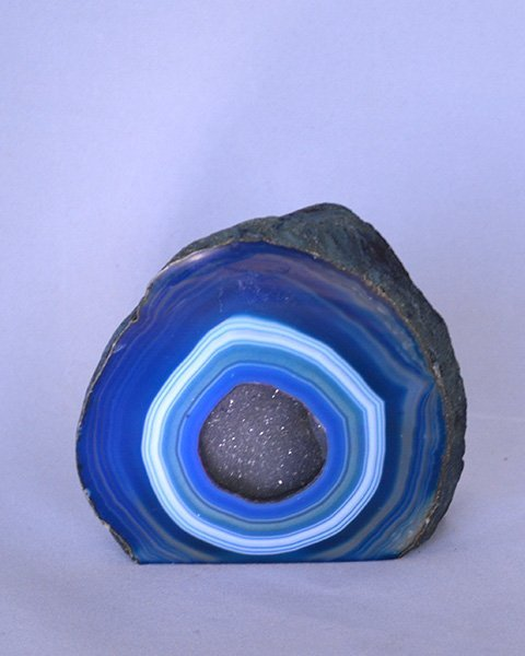Multilayered blue geode stone