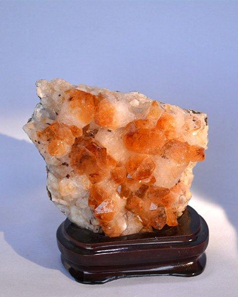 Coral Orange Quartz Gemstone