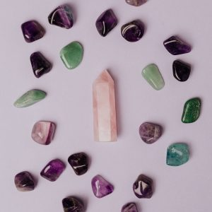 handmade jewelry from gemstones, rose quartz amethyst