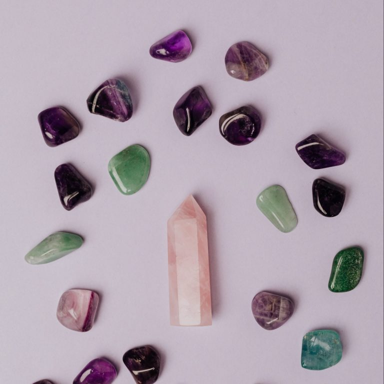 handmade jewelry from gemstones, rose quartz amethyst